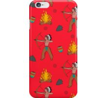 Native American pattern on red iPhone Case/Skin