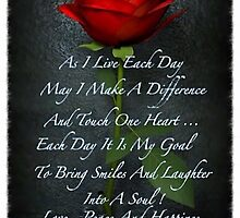 A Rose of Inspiration by Gina Kaye