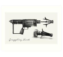 Grappling Hook Schematics  Art Print