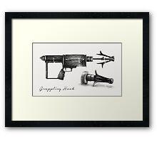 Grappling Hook Schematics  Framed Print