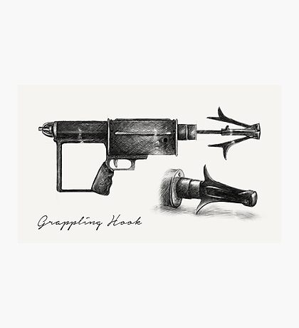 Grappling Hook Schematics  Photographic Print