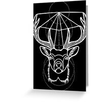 Stag in White Greeting Card