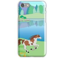 painted pony by the lake iPhone Case/Skin