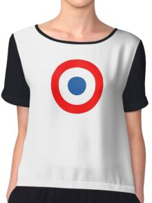 Roundel, Tricolore, cockade, French, Air Force, Bullseye, combat, aircraft, First World War Chiffon Top