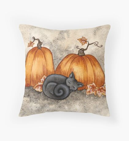 Pumpkin Nap Throw Pillow