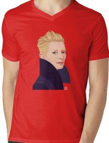 Tilda Swinton Mens V-Neck T-Shirt