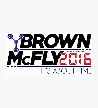 Brown McFly 2016 Photographic Print