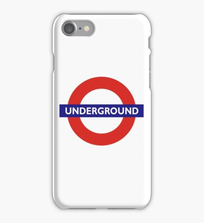 UNDERGROUND, TUBE, LONDON, GB, ENGLAND, BRITISH, BRITAIN, UK iPhone Case/Skin