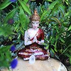 Buddha - A prayer in the garden by Lilaviolet
