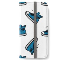 Sneakers seamless pattern, hand drawing iPhone Wallet/Case/Skin