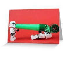 Lego Storm trooper birthday surprise Greeting Card