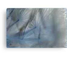 Miss Dandelions Cousin In Blue Metal Print