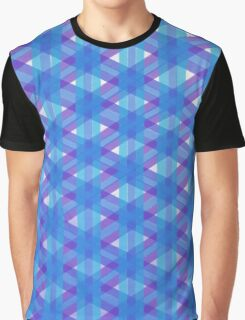 Woven Blue Graphic T-Shirt