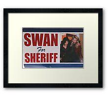 Swan For Sheriff Framed Print