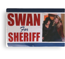 Swan For Sheriff Canvas Print