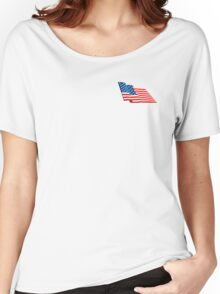 Stars & Stripes, Fly the flag, American Flag, FLUTTER, America, us, USA Women's Relaxed Fit T-Shirt