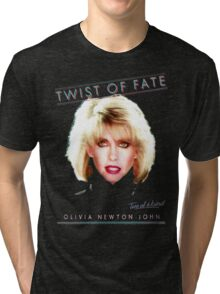 OLIVIA NEWTON-JOHN - TWIST OF FATE - 80s Tri-blend T-Shirt
