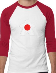 Japanese Meeple Design Men's Baseball ¾ T-Shirt