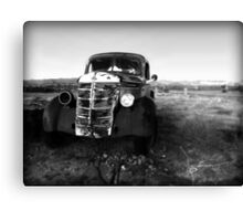 Old Farm Truck in the Desert  Canvas Print