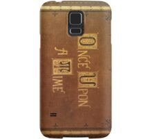 Once Upon A Time - Large Text Cover Samsung Galaxy Case/Skin