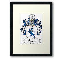 Pagani Coat of Arms (di Susinana) Framed Print