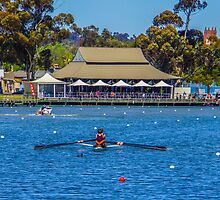 Sprinting to the Finish on Lake Weeroona by Steven Jodoin