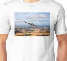 Home stretch: Lancaster over England Unisex T-Shirt