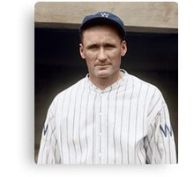 Walter Johnson, Washington Senators, 1925 Canvas Print