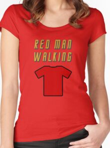 Red Man Walking ( Clothing & Stickers)  Women's Fitted Scoop T-Shirt