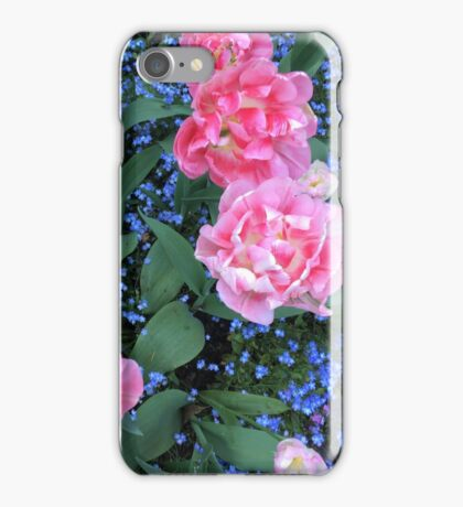 Tulips and ForgetMeNots iPhone Case/Skin