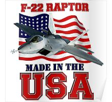 F-22 Raptor Made in the USA Poster