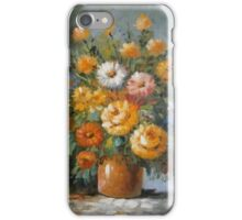 Blooms in a Brown Pottery Vase iPhone Case/Skin