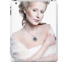 Winter snow queen woman portrait iPad Case/Skin