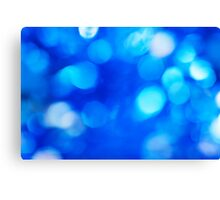 Blue defocused background with bokeh Canvas Print