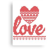 Love heart ugly Canvas Print