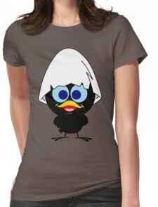 Black chicken Womens Fitted T-Shirt