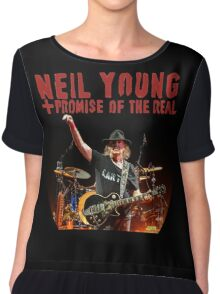 best music poster neil young promise real Chiffon Top