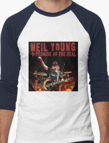 best music poster neil young promise real Men's Baseball ¾ T-Shirt
