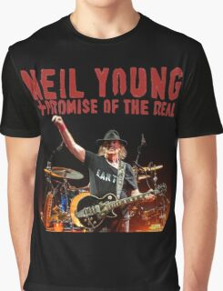 best music poster neil young promise real Graphic T-Shirt