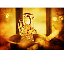 Christmas decoration with angel and candle light Photographic Print