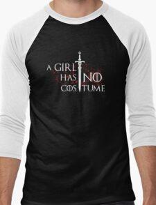 Halloween Shirt - A Girl Has No Costume Men's Baseball ¾ T-Shirt