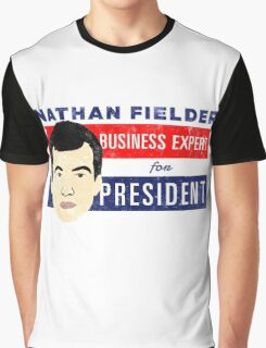 Nathan Fielder for President (Nathan for You) Graphic T-Shirt