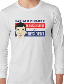 Nathan Fielder for President (Nathan for You) Long Sleeve T-Shirt