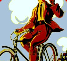 OMEGA BICYCLES; Vintage Cycle Advertising Print Sticker