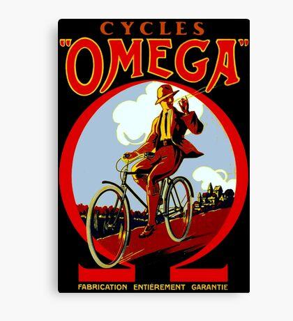OMEGA BICYCLES; Vintage Cycle Advertising Print Canvas Print