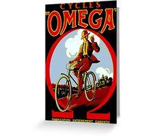 OMEGA BICYCLES; Vintage Cycle Advertising Print Greeting Card