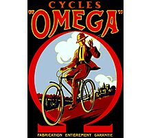 OMEGA BICYCLES; Vintage Cycle Advertising Print Photographic Print