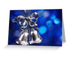 Christmas decoration with silver bells  Greeting Card
