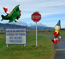 Noddy and Big Ears at the Airport by MHen