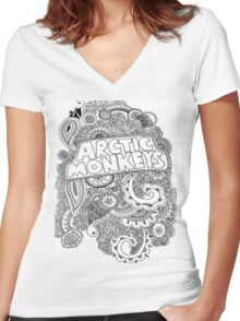 Arctic Monkeys Women's Fitted V-Neck T-Shirt